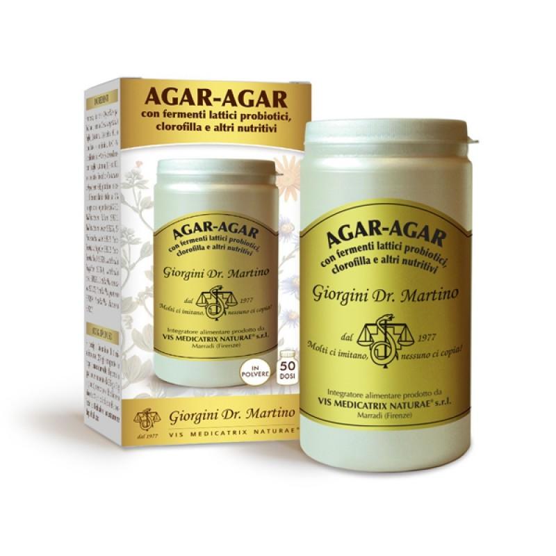 AGAR-AGAR CON FERMENTI LATTICI E CLOROFILLA 150 g polvere - Dr. Giorgini