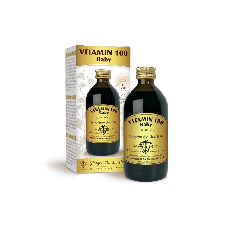 VITAMIN 100 Baby 200 ml liquido analcoolico - Dr. Giorgini