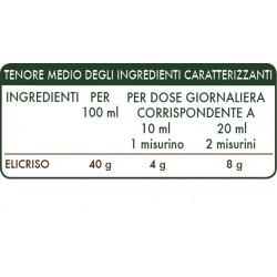 ELICRISO ESTRATTO INTEGRALE 200 ml Liquido analcoolico - Dr. Giorgini