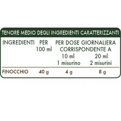 FINOCCHIO ESTRATTO INTEGRALE 200 ml Liquido analcoolico - Dr. Giorgini