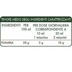 FUMARIA ESTRATTO INTEGRALE 200 ml Liquido analcoolico - Dr. Giorgini