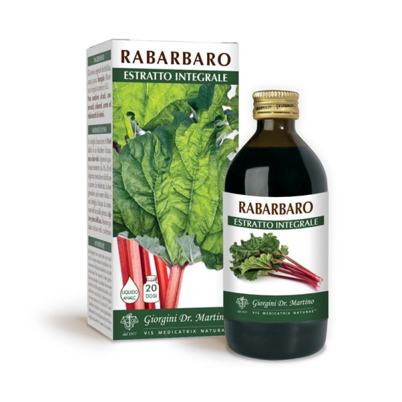 RABARBARO ESTRATTO INTEGRALE 200 ml Liquido analcoolico - Dr. Giorgini