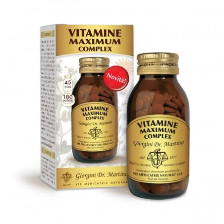 VITAMINE MAXIMUM COMPLEX 180 pastiglie (90 g) - Dr. Giorgini