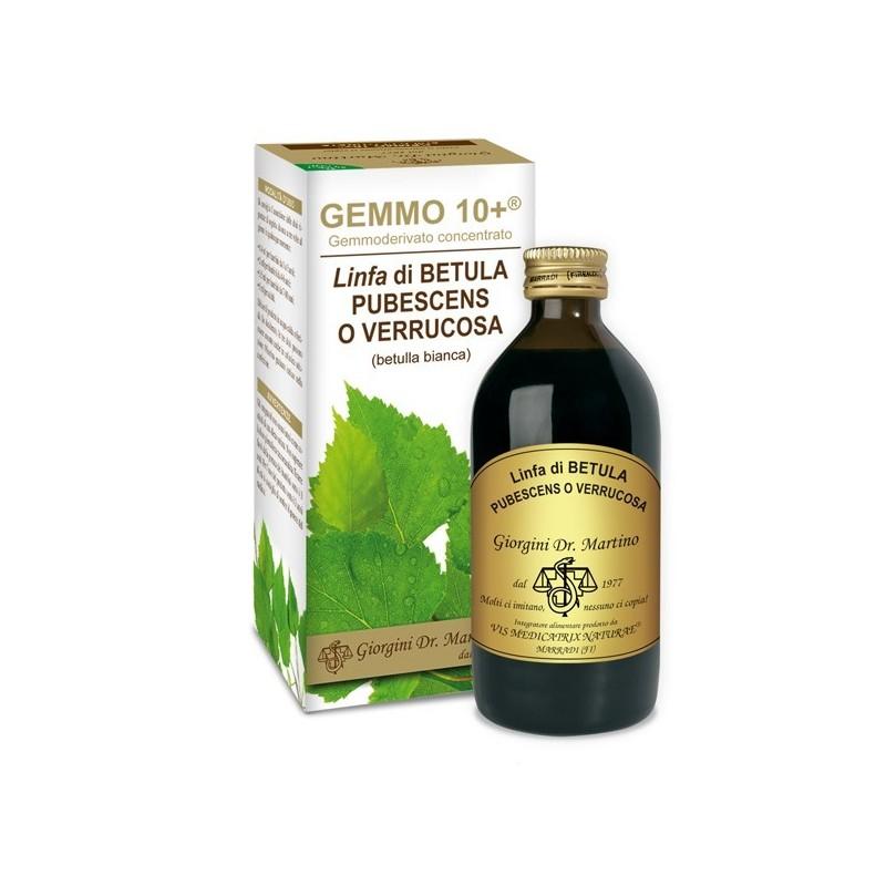 GEMMO 10+ Betulla Bianca Linfa 200 ml Liquido analcoolico - Dr. Giorgini