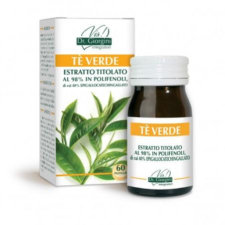 Tè VERDE ESTRATTO TITOLATO 60 pastiglie (30 g) - Dr. Giorgini