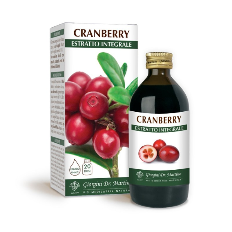 CRANBERRY ESTRATTO INTEGRALE 200 ml Liquido analcoolico - Dr. Giorgini