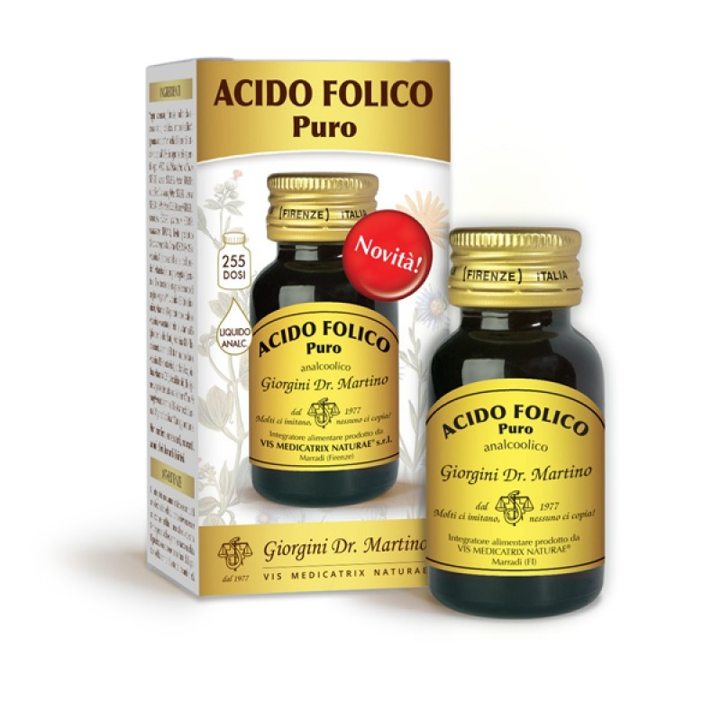 ACIDO FOLICO puro 30 ml liquido analcoolico - Dr. Giorgini